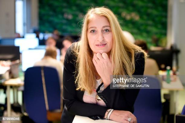 Cofounder of French real estate startup Habiteo Jeanne Massa poses during a photo session on November 17 2017 at the headquarters of the company in...