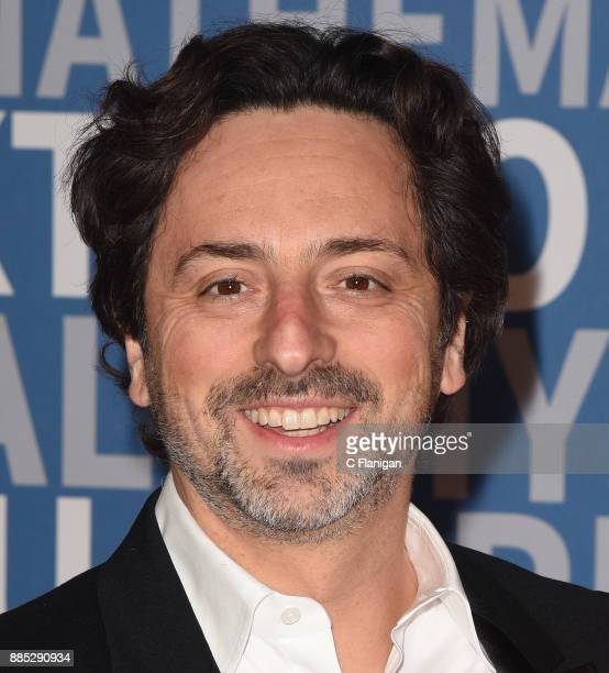Cofounder of Google and Alphabet president Sergey Brin attends the 2018 Breakthrough Prize at NASA Ames Research Center on December 3 2017 in...