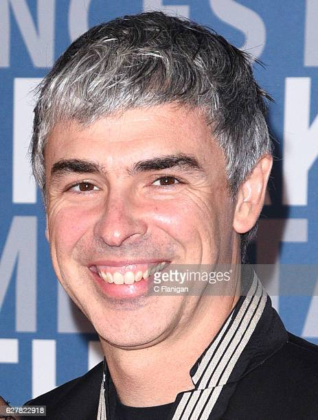 CoFounder of Google and CEO of Alphabet Larry Page attends the 2017 Breakthrough Prize at NASA Ames Research Center on December 4 2016 in Mountain...