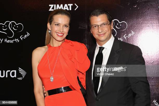 Cofounder of Happy Hearts Fundation Petra Nemcova and Alejandro Grimaldi attend the Happy Hearts Fundation Mexico 10th Anniversary at Four Seasons...