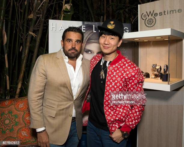 CoFounder of Haute Media Group Seth Semilof and Singer JJ Lin attend the Haute Living Celebrates Kate Mara with Westime event on August 7 2017 in Los...