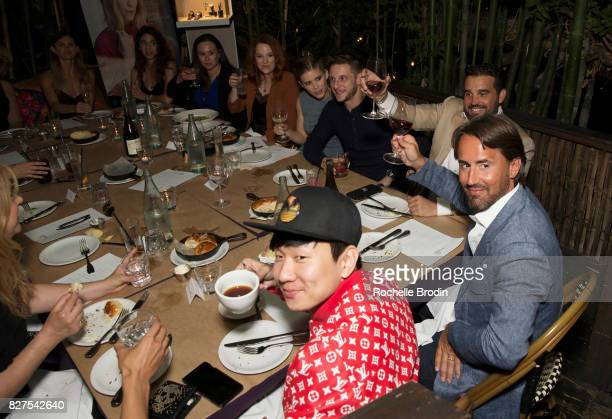 CoFounder of Haute Media Group Seth Semilof Jay Rutland singer JJ Lin and guests attend the Haute Living Celebrates Kate Mara with Westime event on...