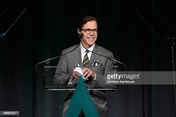 CoFounder of Kate Spade Kack Spade Andy Spade speaks onstage at the 17th Annual Accessories Council ACE Awards At Cipriani 42nd Street on November 4...