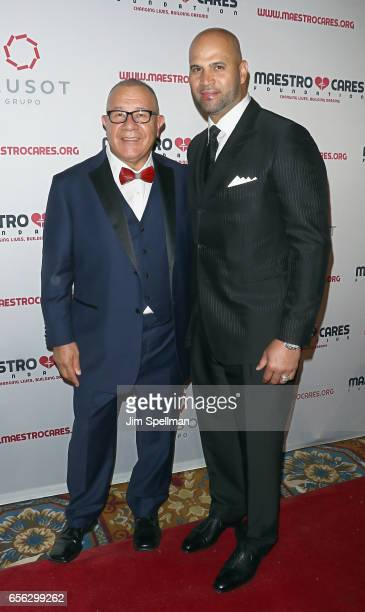 CoFounder of Maestro Cares foundation Henry Cardenas and baseball player Albert Pujols attend the Maestro Cares Foundation's Fourth Annual Changing...
