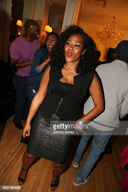 CEO / CoFounder of Miss Jessie's Miko Branch attends Miss Jesse's Holiday Party Honoring TiTi Branch at Miss Jessie's Salon on December 9 in New York...