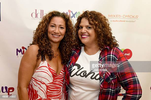 Cofounder of Mixed Chicks Wendi Kaaya and fashion designer Sonia KangSmith attend the Mixed Me Book Launch Multiculti Mixer on October 22 2015 in Los...