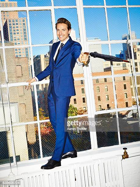 Cofounder of Paddle8 Alexander Gilkes is photographed for Esquire Magazine in 2014 in New York City
