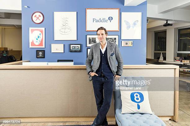 Cofounder of Paddle8 Alexander Gilkes is photographed for The Times on January 13 2015 in New York City