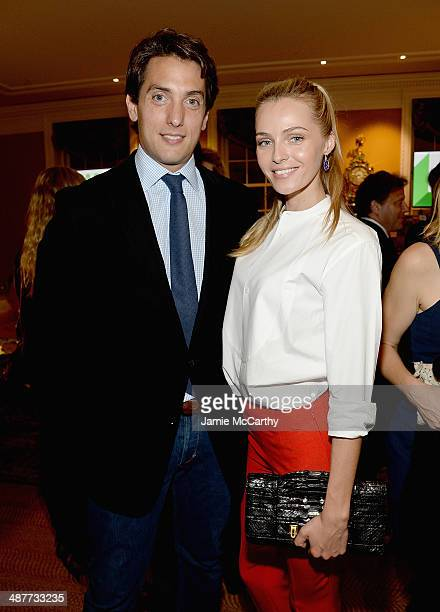 Cofounder of React to Film Dennis Paul and Valentina Zelyaeva attend the React To Film Awards on May 1 2014 in New York City