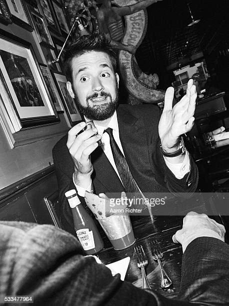 Cofounder of Reddit Alexis Ohanian is photographed for Esquire Magazine in 2014 in New York City