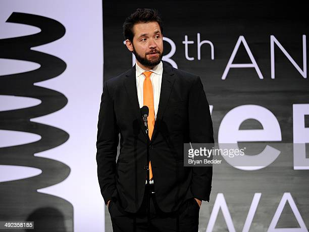 Cofounder of Reddit Alexis Ohanian speaks onstage at the 18th Annual Webby Awards on May 19 2014 in New York City