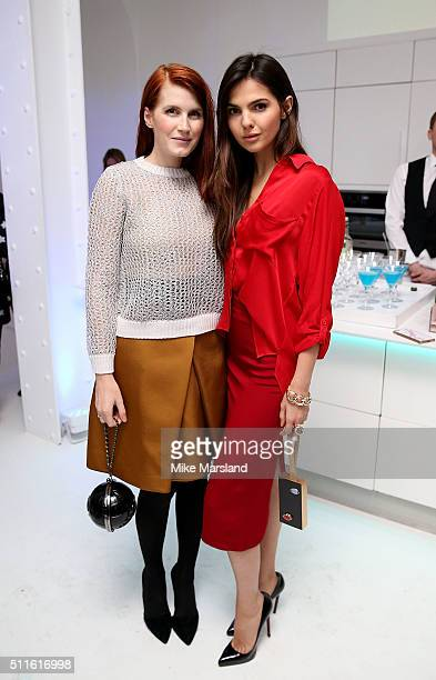CoFounder of rewardStyle and LIKEtoKNOWit Amber Venz Box and blogger Doina Ciobanu attend as rewardStyle host a London Fashion Week Party at IceTank...