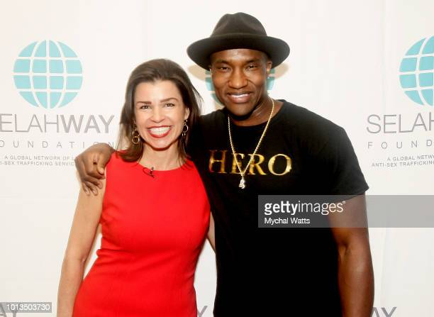 CoFounder of Selah Way Foundation Elizabeth Mendez Fisher and singer/song writer Dee Mo attend the Selah Way Foundation Luncheon at Wells Fargo 42nd...