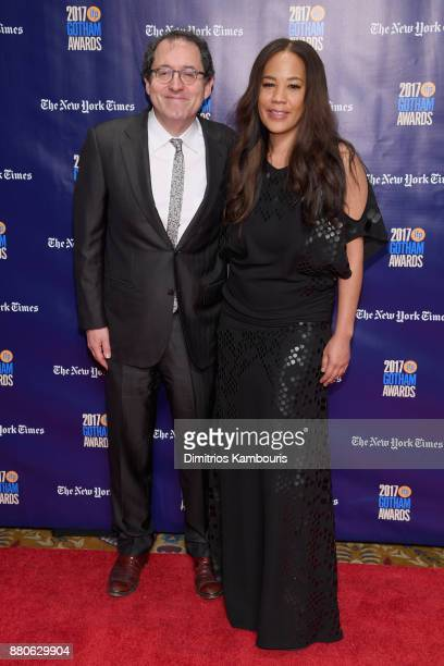 CoFounder of Sony Pictures Michael Barker and Director Maggie Betts attend IFP's 27th Annual Gotham Independent Film Awards on November 27 2017 in...