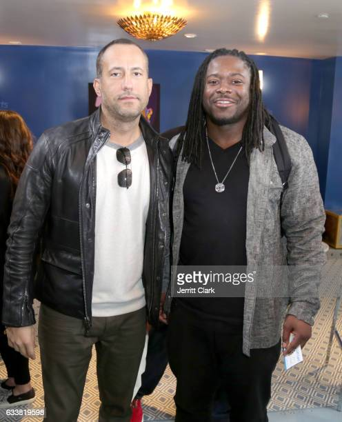 Cofounder of Talent Resources Sports David Spencer NFL player Eddie Lacy attend Turner Ignite Sports Luxury Lounge on February 4 2017 in Houston Texas