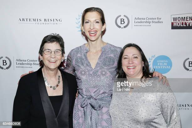 CoFounder of the Athena Film Festival Kathryn Kolbert Actor Alysia Reiner and CoFounder of the Athena Film Festival Melissa Silverstein attend the...