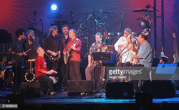 Co-founder of the Beach Boys, American musician, Brian Wilson and his 19 piece band perform songs from his recent album SMILE at The Regent Theatre...