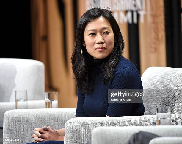 Cofounder of the Chan Zuckerberg Initiative Priscilla Chan speaks onstage during 'The Next Wave of Philanthropy' at the Vanity Fair New Establishment...