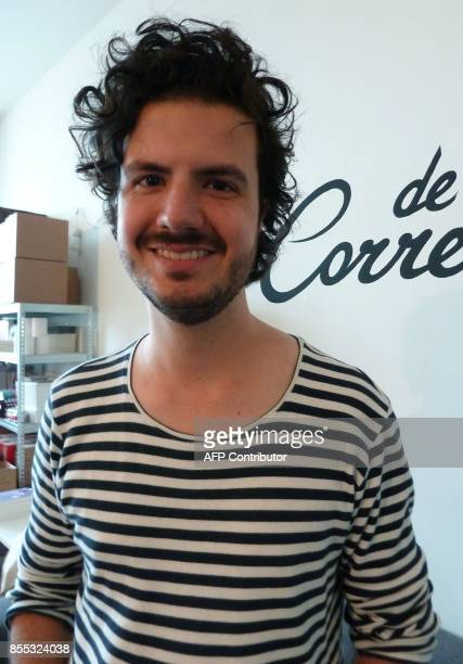 Cofounder of the De Correspondent online news website ErnstJan Pfauth poses inside the organisations offices as it prepares to launch an English...