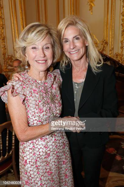 Cofounder of The Eloise Susanna Gale Foundation Flavia Gale and Ambassador of USA to Paris Jamie McCourt attend the Ambassador of the United States...