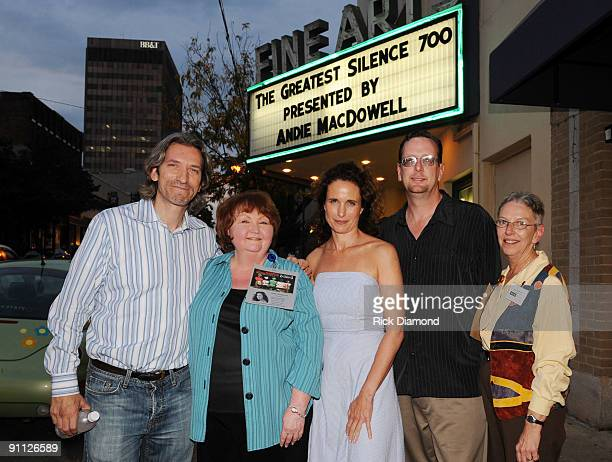 COVERAGE*** CoFounder of The Enough Project John Prendergast Organizer Cherry Hart Actress/Host and Asheville resident Andie MacDowell Manager Fine...
