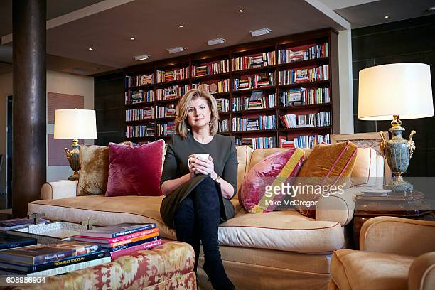 Cofounder of the Huffington Post Arianna Huffington is photographed for The Guardian Magazine on January 11 2016 at home in New York City