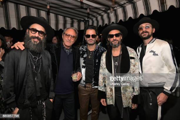 Cofounder of The Kooples Laurent Elicha Serge Azria CEO The Kooples Nicolas Dreyfus and cofounders of The Kooples Alexandre Elicha and Raphael Elicha...