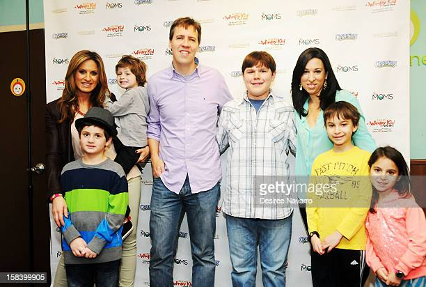 CoFounder of THE MOMS Denise Albert author Jeff Kinney actor Robert Capron Melissa Gerstein and family attend Diary Of A Wimpy Kid Dog Days DVD...
