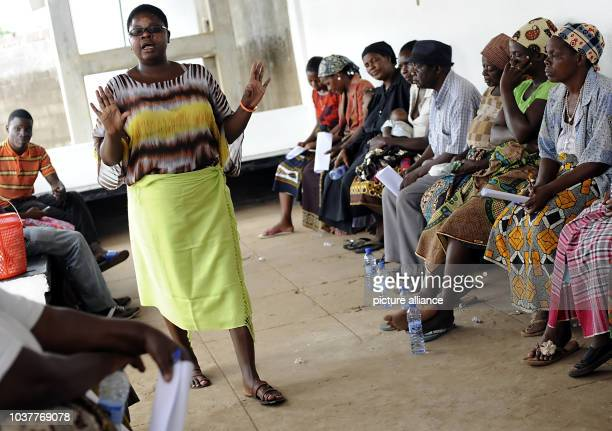 Cofounder of the organisation 'Blue Horizon' Dalila Macuacua speaks at an event concerned with the position and rights of women in Maputo Mozambique...