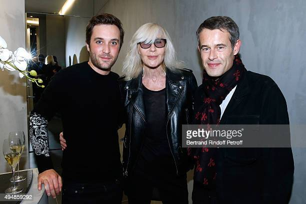 CoFounder of the Store Louis Leboiteux Betty Catroux and Philippe Mugnier attend the Opening of the Collection 'Exemplaire x Nicolas Ouchenir' at...