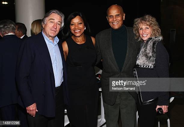 """Co-Founder of the Tribeca Film Festival Robert De Niro, Grace Hightower, singer Harry Belanfonte and Pamela Belafonte attend the """"Zen Of Bennett""""..."""