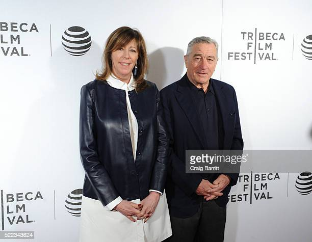 CoFounder of Tribeca Film Festival Jane Rosenthal and Actor Robert De Niro attend Equals Red Carpet Premiere Night during Tribeca Film Festival at...