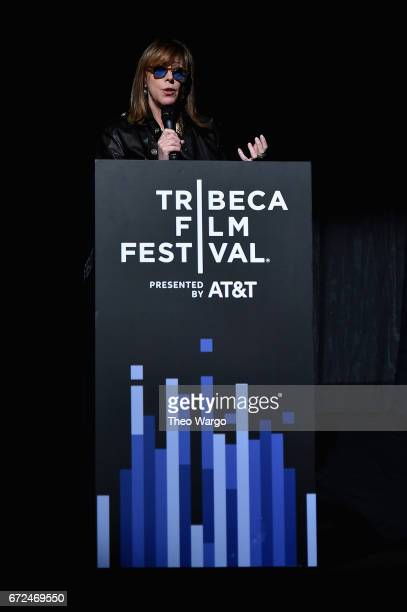 Cofounder of Tribeca Film Festival Jane Rosenthal speaks onstage at Tribeca Talks Noah Baumbach at BMCC Tribeca PAC on April 24 2017 in New York City