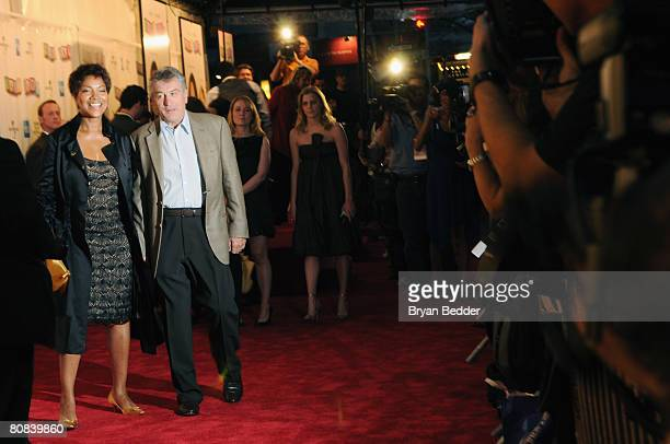 Cofounder of Tribeca Film Festival Robert De Niro and Grace Hightower arrive to the 'Baby Mama' premiere at the Ziegfeld Theatre during the 2008...