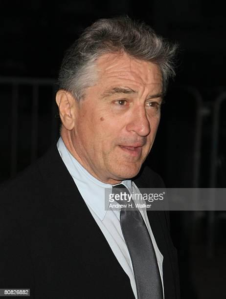 Cofounder of Tribeca Film Festival Robert De Niro arrives at the Vanity Fair party for the 2008 Tribeca Film Festival held at the State Supreme...
