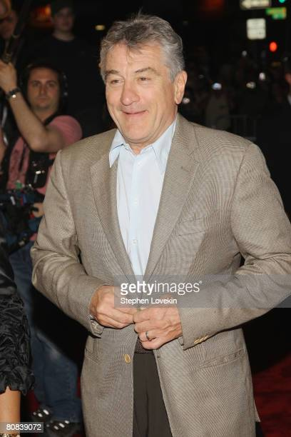 Cofounder of Tribeca Film Festival Robert De Niro arrives to the 'Baby Mama' premiere at the Ziegfeld Theatre during the 2008 Tribeca Film Festival...
