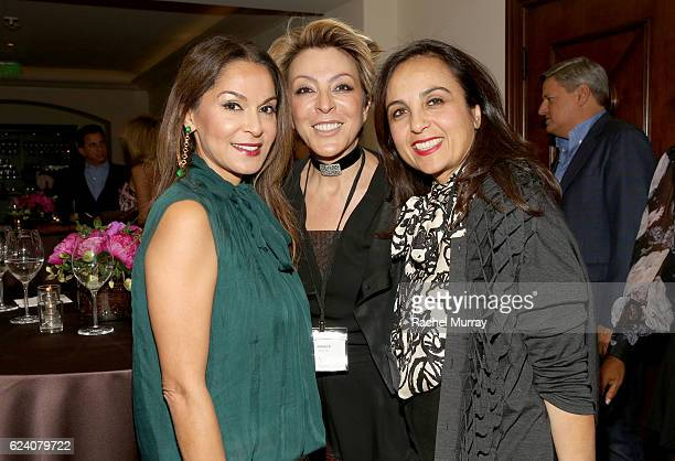 CoFounder of Visionary Women Angella Nazarian and guests attend the 'Bringing Men Into The Conversation On The Evolving Role of Women Television And...