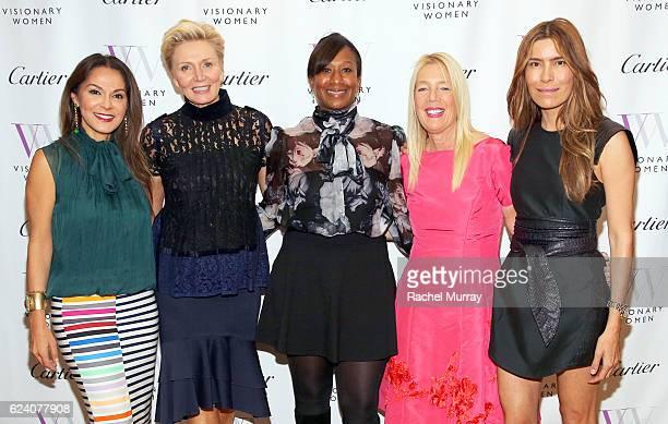 CoFounder of Visionary Women Angella Nazarian President of Visionary Women Shelley Reid Visionary Women Board Members Nicole Avant Lili Bosse and...