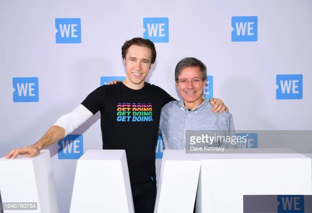 Cofounder of WE Craig Kielburger and Chairman and CEO Allstate Tom Wilson attend WE Day UN 2018 at Barclays Center on September 26 2018 in New York...