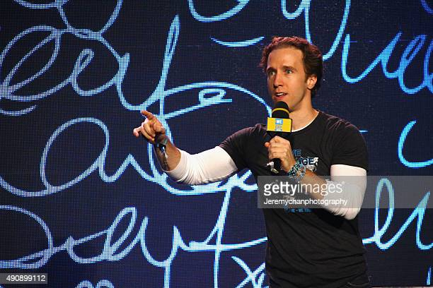 Cofounder of WE Day Craig Kielburger speaks during WE Day Toronto at the Air Canada Centre on October 1 2015 in Toronto Canada