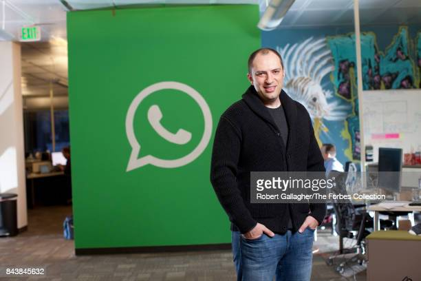 Cofounder of WhatsApp Jan Koum is photographed on February 13 2014 at the offices of WhatsApp in Mountain View California PUBLISHED IMAGE CREDIT MUST...