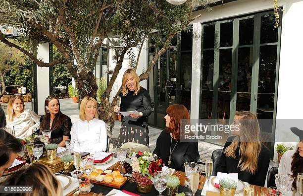 Cofounder of Who What Wear Hillary Kerr speaks at SOREL Who What Wear Fall Reboot brunch on October 27 2016 in Los Angeles California