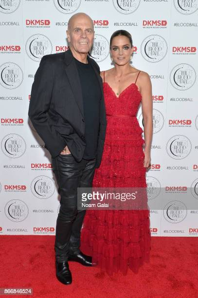 Cofounder Peter Harf and DKMS Chairman of the Board US Katharina Harf attens the 2017 DKMS Blood Ball at Spring Place on October 26 2017 in New York...