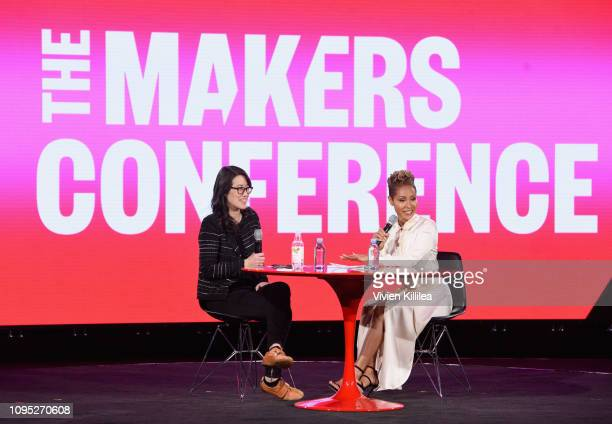 CEO CoFounder Project Include Ellen Pao and Jada Pinkett Smith speak onstage during The 2019 MAKERS Conference at Monarch Beach Resort on February 7...