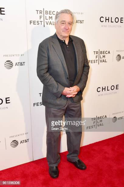 TFF cofounder Robert De Niro attends the 2018 Tribeca Film Festival presented by ATT Jury Awards hosted by Chloe Wine Collection at BMCC Tribeca PAC...