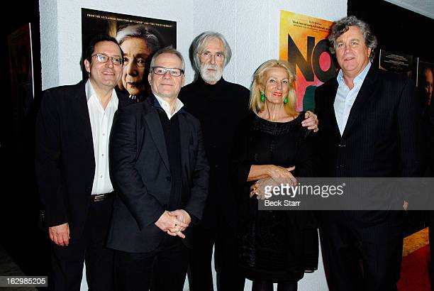 Cofounder Sony Pictures Classics Michael Barker Cannes artistic director Thierry Fremaux director Michael Haneke set director Susanne Haneke and...