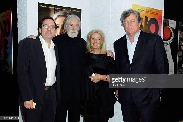 Cofounder Sony Pictures Classics Michael Barker director Michael Haneke set director Susanne Haneke and cofounder Sony Pictures Classics Tom Bernard...