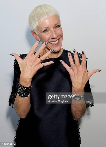 Cofounder Style Director Jan Arnold poses backstage during CND opening ceremony Fall/Winter 2015 on February 15 2015 in New York City