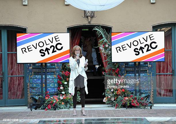 CoFounder SU2C Rusty Robertson speaks during the REVOLVE fashion show benefiting Stand Up To Cancer on October 22 2015 in Los Angeles California