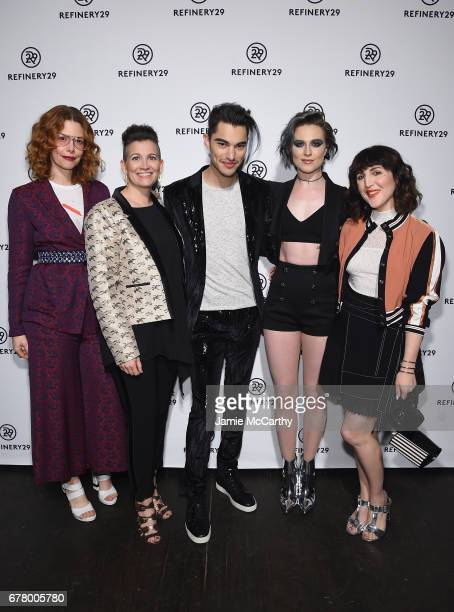 CoFounder/Global Editor in Chief Christene Barberich CCO of Refinery29 Amy Emmerich Zach Villa and Evan Rachel Wood of Rebel and a Basketcase and...